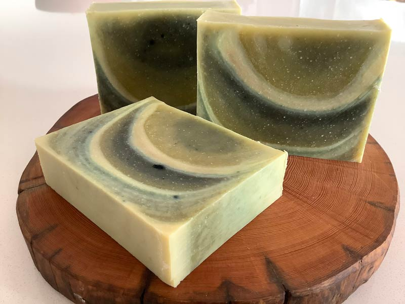 cucumber avocado soap - vegan and sustainable sourced body soap