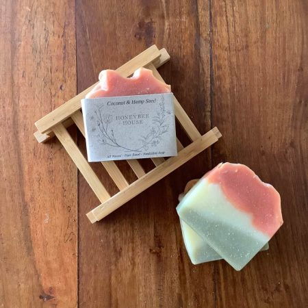 natural, environmentally friendly soap - coconut and hemp seed body bar