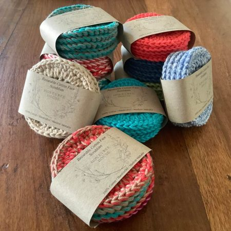 Reusable face wipes - all natural cotton face scrubbies