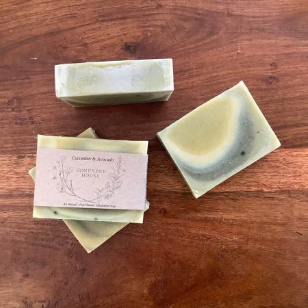 natural handcrafted sustainable body soap - vegan cucumber avocado body bar