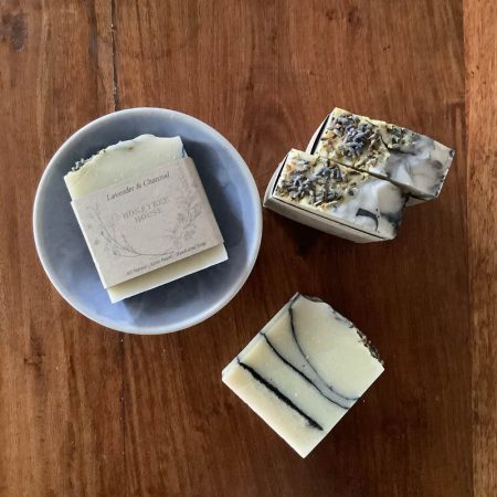 Australian made handcrafted body soap - lavendar and charcoal body soap